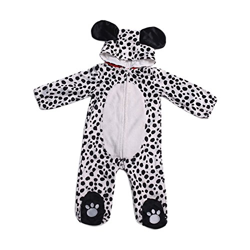HollyHOME Baby Romper Dalmatian Puppy OneSize for Kids One Piece Dog Sleeping Wear Cosplay Costume for 12-18M ()