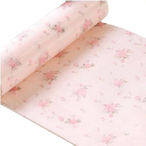 PANDA SUPERSTORE Non-Slip Moisture Proof Anti Dust Mat, Kitchen Drawer Storage Pad,Pink Rose LM-L