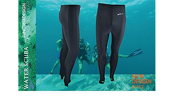 b79a66fc4e46c Amazon.com : With velvet thickening lycra Fashion Surfing Leggings Swimming,  Surfing, Diving Men's Long Swim Trousers Uv Protection Leggings for Diving  ...