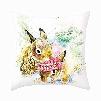 Amazon.com: Smilyard Otter - Funda de almohada decorativa ...