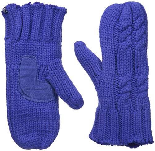 Isotoner Women's Chunky Cable Knit SherpaSoft Mittens,  Blue Note,  One Size