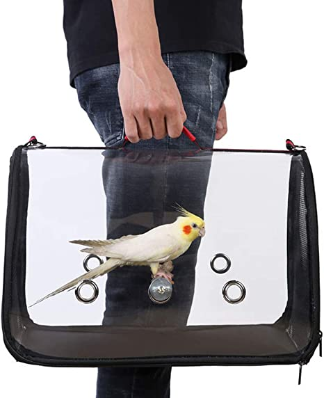 Yunshm Tropical Background Parrot Bird Cactus Trolley Handbag Waterproof Unisex Large Capacity For Business Travel Storage