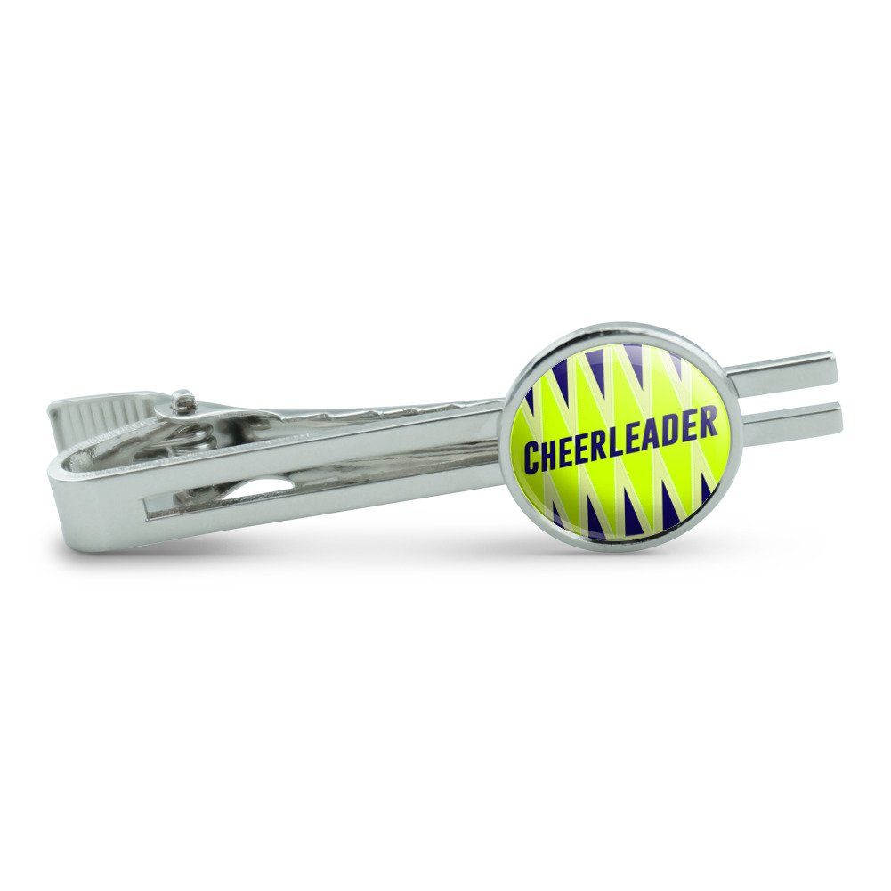 Cheerleader Go Team Go Mens Tie Clip Tack Bar