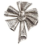 NOVICA .925 Sterling Silver Brooch 'Songket Windmill'