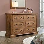 "Sauder New Grange Dresser, L: 55.75"" x W: 17.09"" x H: 35.75"", Vintage Oak"