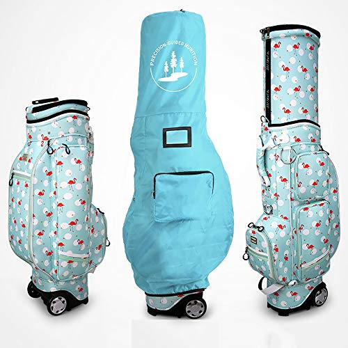 Linqly Golf Cart Bag,Waterproof Hard Shell with Tug,with Removable Rain Hood,49.6119.639.06 Inches Fairway Golf Stand Bag,A
