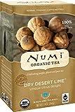 Numi Organic Tea Dry Desert Lime, Caffeine Free Herbal Teasan, 18 Count non-GMO Tea Bags (Pack of 3)
