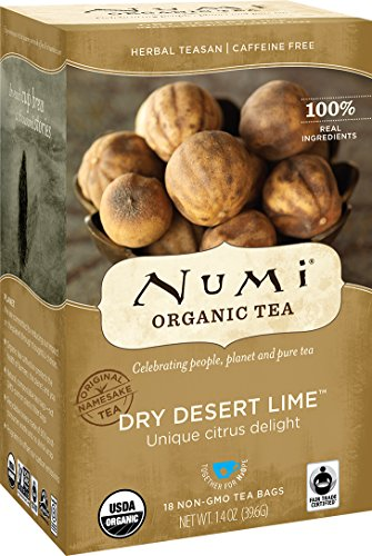 Numi Organic Tea Dry Desert Lime, 18 Count Box of Tea Bags (Pack of 3) Herbal Teasan (Packaging May Vary)