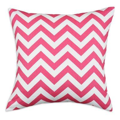 Chooty & CO Zig Zag KE Fiber Pillow, 17 by 17-Inch, Candy Pink, Set of 2