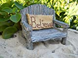 Fairy Garden Fairy Bench With Believe Pillow