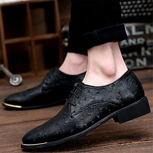 Shoes Casual Wedding Red Blue Business Oxfords Formal Men's Leather Suit C Black Dress Office Shoes HUAN AnPtq76