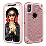 Case for iPhone Xs,iPhone X,Digital Hutty 3 in 1 Shockproof Heavy Duty Full-Body Protective Cover for Apple iPhone Xs 2018,iPhone X 2017 Rose Gold