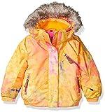Spyder Girls Bitsy Lola Jacket, Size 6, Morning Sky Bryte B/Gum Print/Bryte Bubblegum