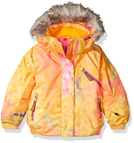 Spyder Girls Bitsy Lola Jacket, Size 6, Morning Sky Bryte B/Gum Print/Bryte Bubblegum by Spyder