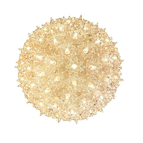 Novelty Lights SS100-CL Commercial Grade Indoor/Outdoor Christmas Starlight Sphere, Clear, 100 Light, 7.5