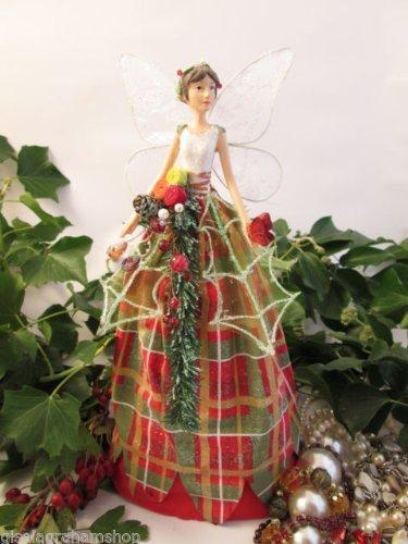 Gisela Graham Highland Forest Angel Christmas Tree Topper 28CM 30385 ...