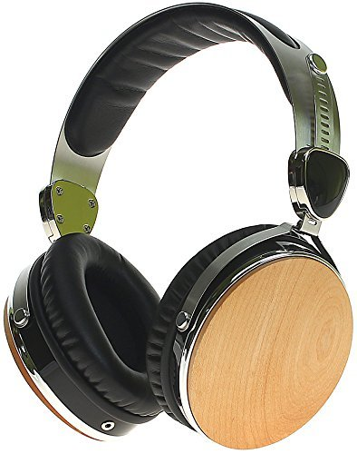 Symphonized Wraith 2.0 Premium Genuine Wood Over-Ear Headphones with in-Line Microphone, Tangle-Free Noise-Isolating Wired Stereo Earphones with Spare Replacement Cable Included (Maple Finish)