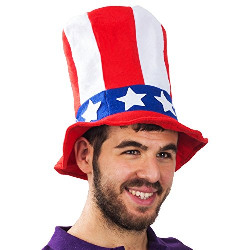 Felt Stovepipe Party Hats For Any Occasion - Funny Party Hats TM (Patriotic) (Costumes Year New)