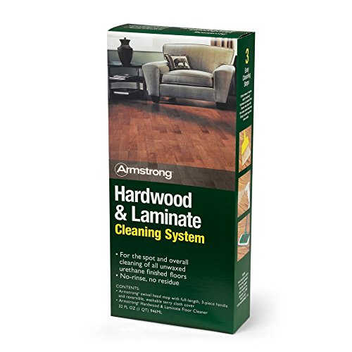 Wax Flooring - Armstrong Hardwood and Laminate Cleaning System With Spray Cleaner, Mop and Cloth Mop Cover Kit