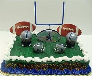 Amazoncom NFL Football Dallas Cowboys Birthday Cake Topper Set