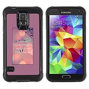 LASTONE PHONE CASE / Suave Silicona Caso Carcasa de Caucho Funda para Samsung Galaxy S5 SM-G900 / God Motivational Inspirational
