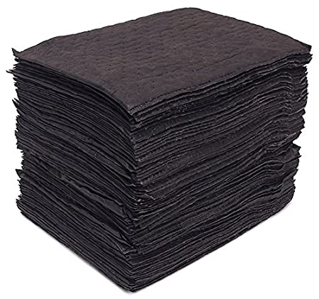 Buffalo Industries (91108) 15-Inch X 18-Inch Heavy Weight Laminated Recycled Universal Bonded Sorbent Pad, (Pack of 100)