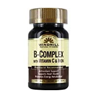 Windmill B-Complex Tablets with Vitamin C and Iron Supplement - 100 Ea