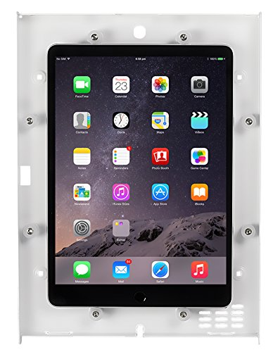 Mount-It! Anti-Theft Tablet Wall Mount for iPad | Secure iPad Wall Kiosk | Contact-Less iPad Mount | Locking Enclosure for iPad 9.7 Models (MI-3772W)