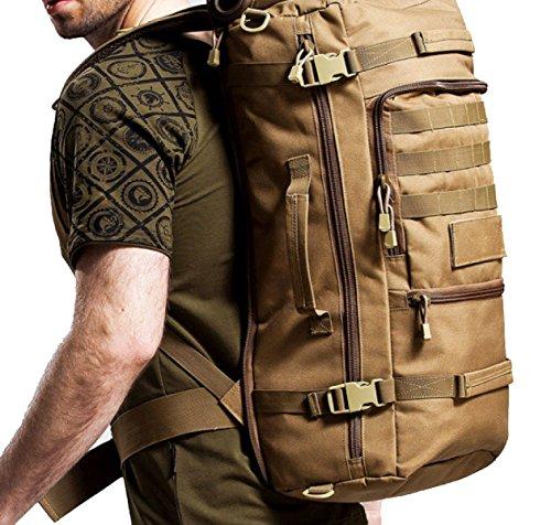 40L Wasserdichte Multifunktionale Outdoor Taktik Rucksack Camouflage Camping Bergsteigen Tasche,DesertCamouflage Khaki