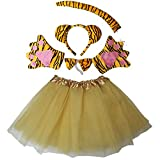 Kirei Sui Girls Animal Costume Ears Headband Bowtie Tail Tutu Paws Set