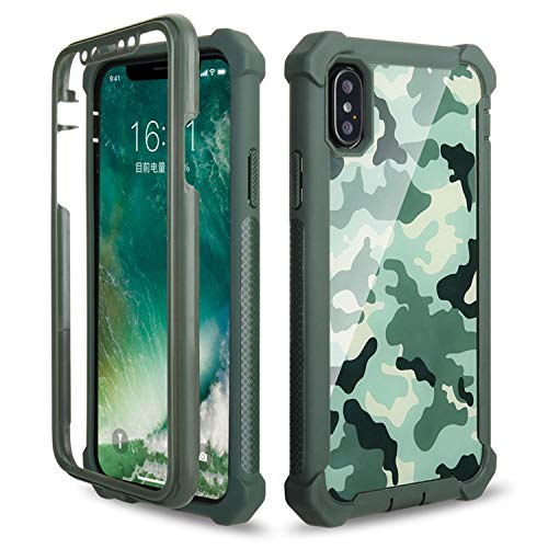 Doom Armor PC+Soft TPU Phone Case for iPhone Xs Max XR X 6 6S 7 8 Plus 5S 5 5C SE2 Shockproof Sturdy Cover ArmyGreen Phone Case for iPhone 7
