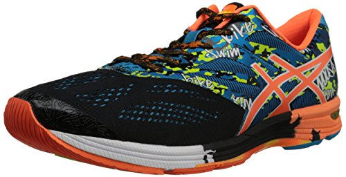 ASICS Men's Gel-Noosa Tri 10 Running Shoe,Black/Flash Orange/Flash Yellow,14 M US by ASICS