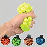 Pack of 3 Mesh Squishy Ball - Stress Relief Squeezing Soft Rubber Vent Squeeze Grape Ball, Relieve Pressure Colors May Vary, For Kids & Adults, Anti-Stress Squishy Toys For Autism, ADHD, Bad Habits