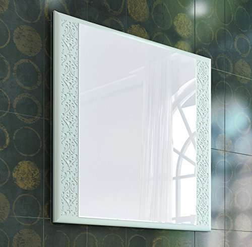 Eviva EVMR908-32WH-Venice Rome 32'' Modern Luxury Bathroom Mirror Combination, White by Eviva (Image #1)