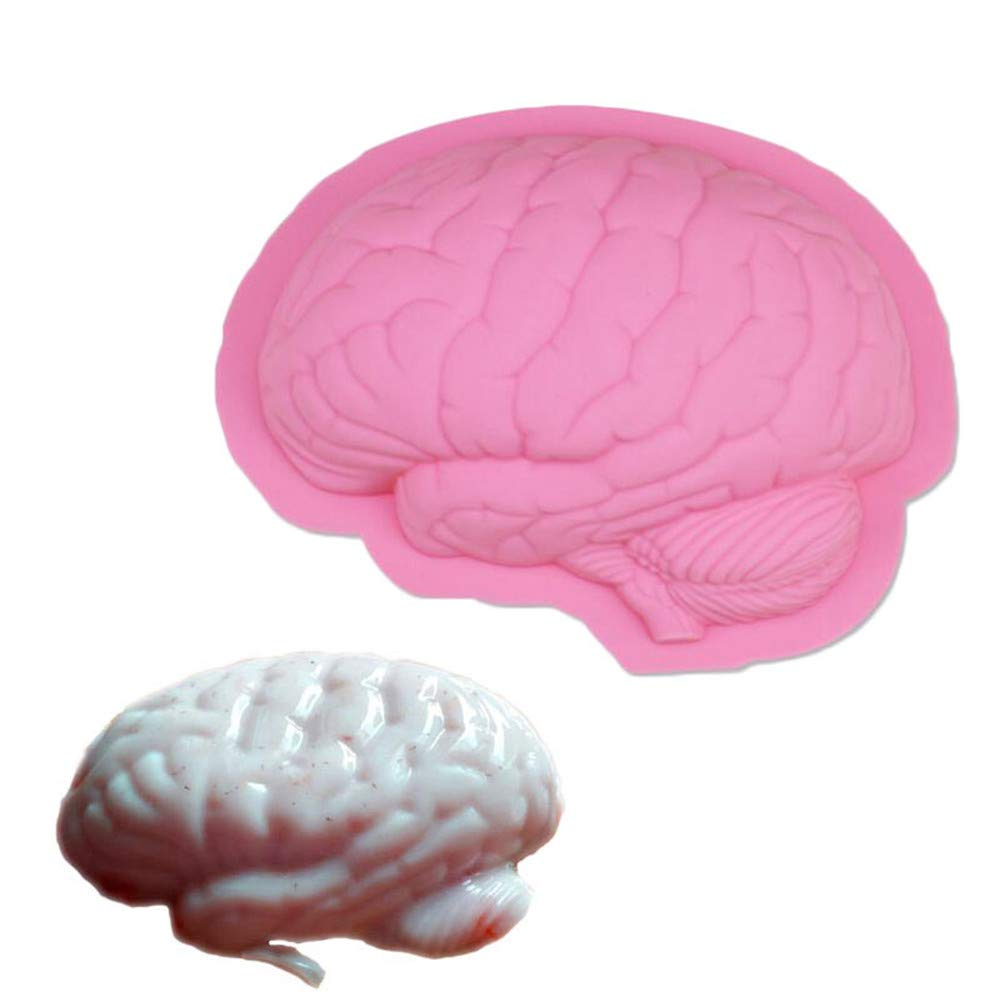2 Pack Scary Zombie Brain Jello Gelatin Mold For Zombie Food Halloween Cake Horror Prop Costume Party gag Decoration Tools