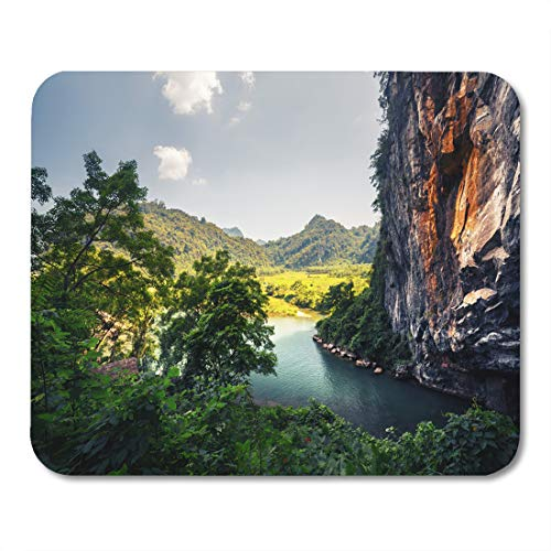 Semtomn Mouse Pad Clear River Flowing from The Cave in National Park Mousepad 9.8