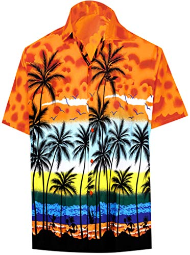 LA LEELA Palm Tree Print Beach Shirt for