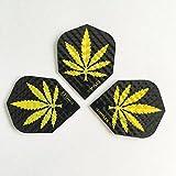 5 SETS Pot Leaf Weed Marijuana Dimplex Dart Flights(15 Flights Total)