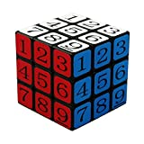 PeleusTech® CubeTwist 3x3x3 Puzzle Speed Sudoku Number Magic Cube Educational Puzzle Toy - Black (5.7cm)