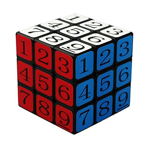 Formula® CubeTwist 3x3x3 Puzzle Speed Sudoku Number Magic Cube Educational Puzzle Toy - Black