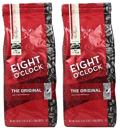 Eight O'Clock Coffee, Original Whole Bean, 42-Ounce Package, Pack of 2 ()