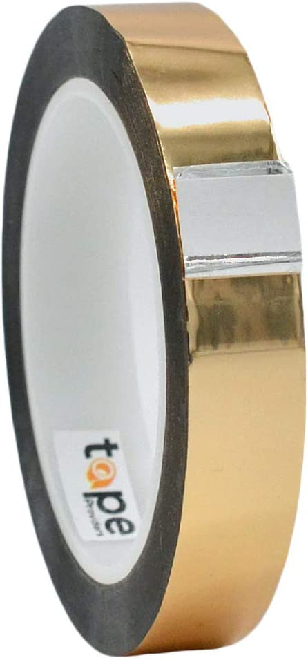WOD MPFT2 Gold Metalized Polyester Mylar Film Tape with Acrylic Adhesive, 3/4 inch x 72 yds. Vibrant Mirror Like Finish, Decor Tape for Detailing Accent Wall, Graphic Arts, Car and Boat Trim