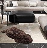 A-STAR 2×3-Feet Single Large Sheep Skin Rug – Brown