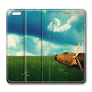 iPhone 6 Case, iPhone 6 Leather Case, Fashion Protective PU Leather Slim Flip Case [Stand Feature] Cover for New Apple iPhone 6(4.7 inch) - Rusty Plane