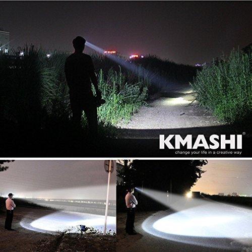 KMASHI 2600 Feet Lighting Distance LED Flashlig...