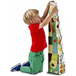 Lilliputiens Jef Building Pyramid - Sturdy Cardboard Nesting & Stacking Blocks with Numbers 1 to 10