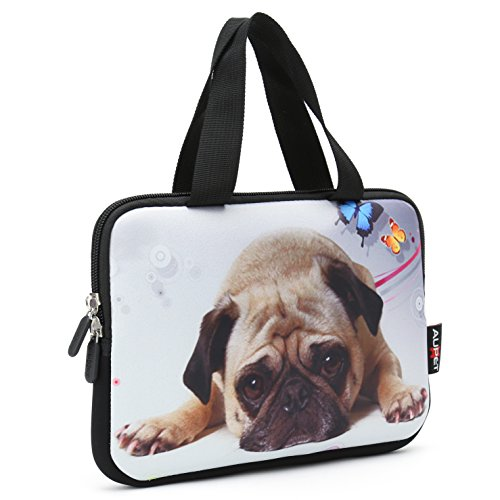 AUPET Cute Puppy Universal 6 7 inch Tablet Portable Neoprene Zipper Carrying Sleeve Case Bag