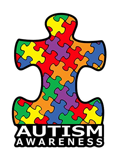2042 Autism Awareness Puzzle Piece Car Decal Sticker | Premium Quality Vinyl Sticker | 4 inch x 6 inch Decal - Autism Puzzle Car Magnet