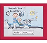 Dentist Personalized Gift Custom Cartoon Print 8x10, 9x12 Magnet or Keychain