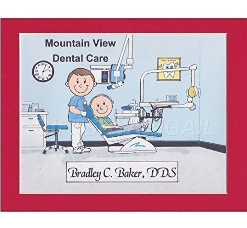 Dentist Personalized Gift Custom Cartoon Print 8x10, 9x12 Magnet or Keychain by giftsbyabigail